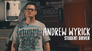 andrew wyrick at truck driving school