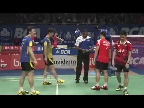 BCA Indonesia Open 2016 | Badminton R16 M2-MD | Lee/Yoo vs Gid/Suk