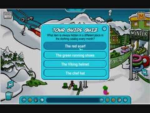 Club Penguin Tour Guide Quiz Answers Youtube