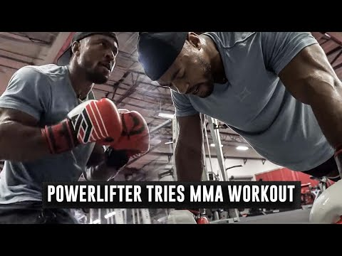 Powerlifter Tries MMA Conditioning Workout for The First Time | Phil Daru