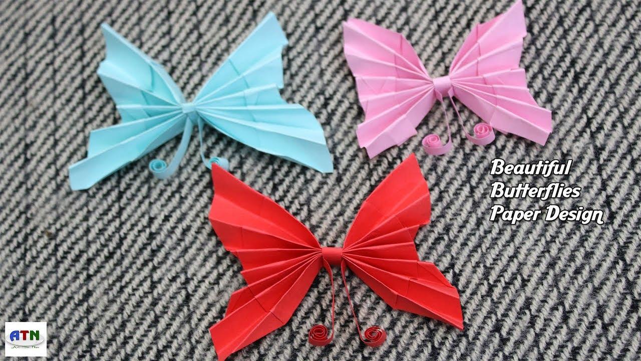 Top 3 Beautiful Butterflies Paper Design Easy Origami
