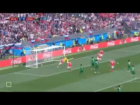 Rusia 5-0 Arabia Saudí Resumen