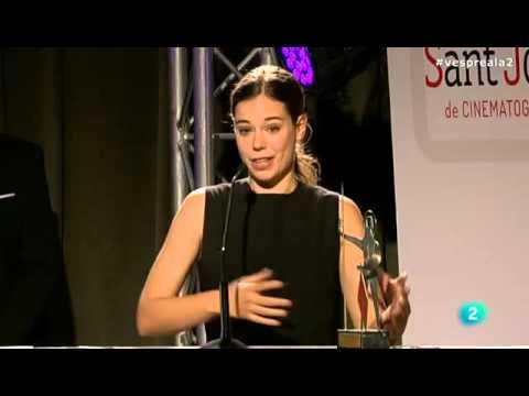Laia Costa recull i agraeix el Premi Sant Jordi de Cinematografia