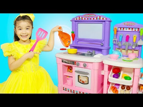 Hana Pretend Play Cooking Fish & Chips Food Restaurant with Kitchen Toys