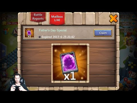 JT's Free 2 Play Opening Fathers Day Legendary Event Hero CARD Castle Clash