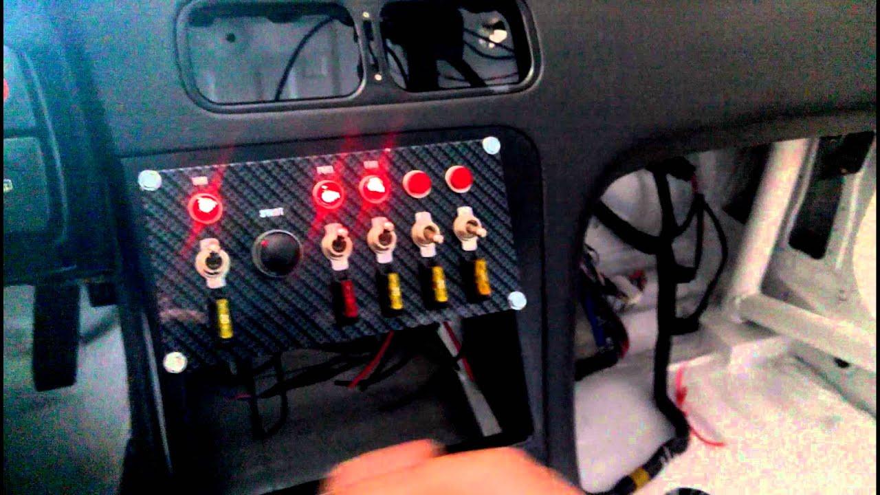 Race Car Switch Panel Wiring Data Diagrams Basic Probando Quot Nissan Sr20 Jocker Youtube Drag