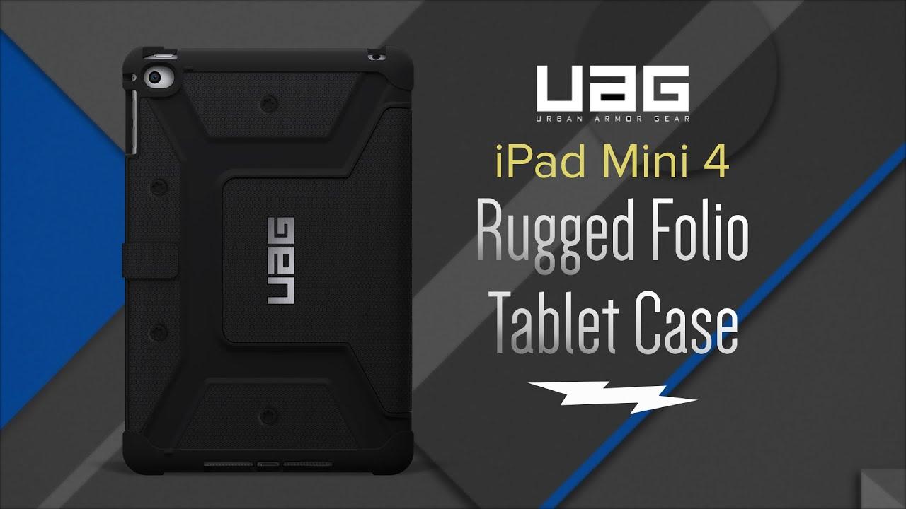 Urban Armor Gear Scout Ipad Mini 4 Folio Case Ipdm4blk