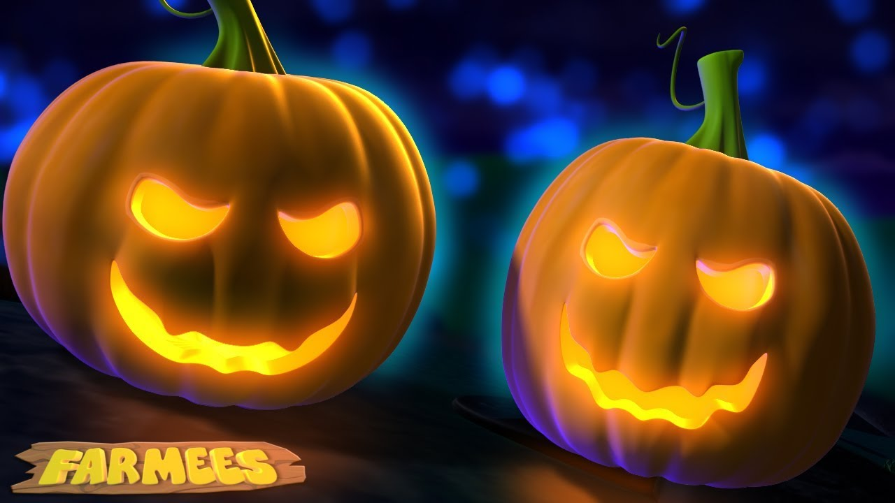 Halloween cartoon scary witch with broom and owl. Scary Pumpkin Song Halloween Rhymes And Kids Songs Spooky Cartoons By Farmees Youtube