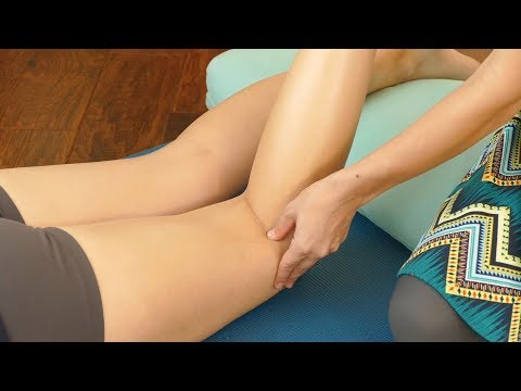 Relieving Knee Pain with Trigger Points, How to, Techniques, Bodywork Tutorial with Relaxing Music