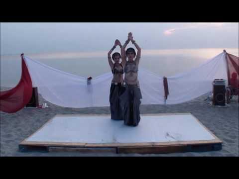 Marina Lyatun And Anastasiya Padma.Tribal Fusion Duo. Amber Tribe OpenAir2016