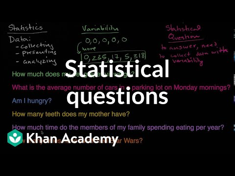 Statistical questions | Data and statistics | 6th grade | Khan Academy
