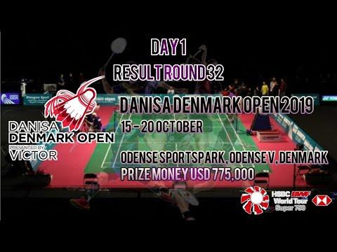 Lengkap Hasil Pertandingan Round 32 Denmark Open 2019 Badminton Day 1