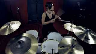 Lindsey Raye Ward- GRIMES feat. Blood Diamonds - GO (Drum Cover)