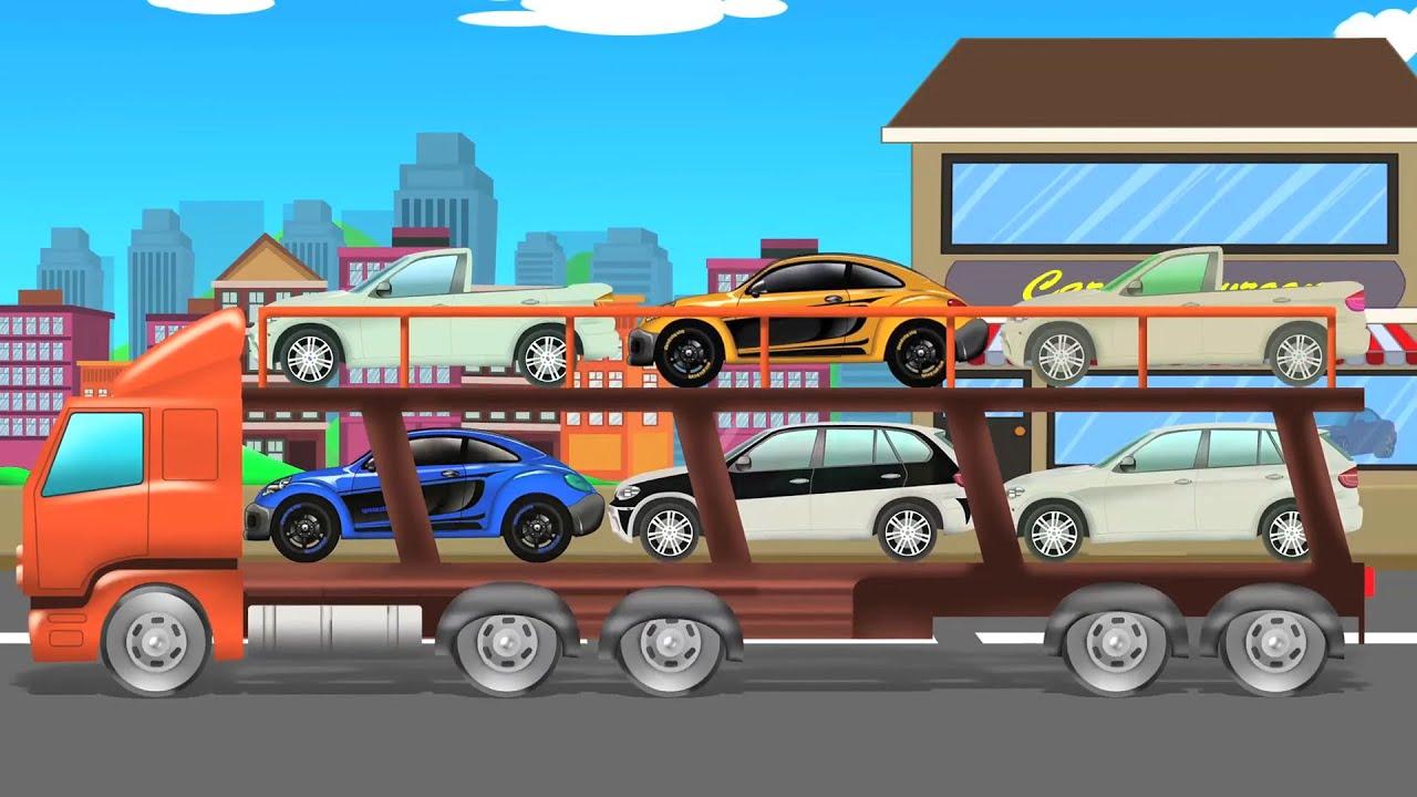 Auto Transport Truck | Vehicles Videos | Kids Car Trucks | Car Videos for Children
