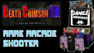 Death Crimson OX! Rare Arcade Shooter! Also called Guncom 2!