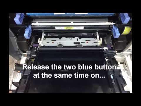 How to remove HP Color LaserJet 4700n Transfer Belt Assembly