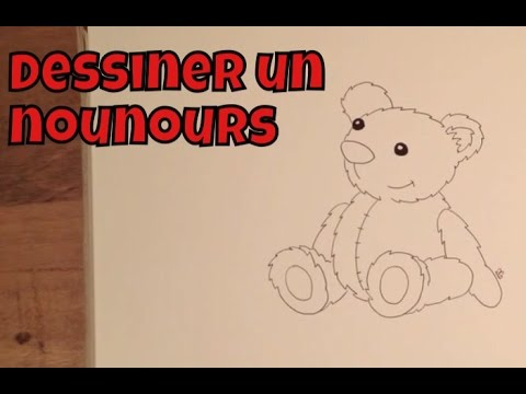 Comment dessiner un nounours facile tape par tape tutoriel youtube - Comment dessiner un ours ...