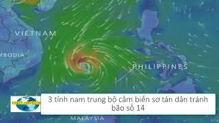 Tin Tức 24h Channel - Dự báo thời tiết / 3 tỉnh nam trung bộ cấm biển sơ tán dân trước bão số 14
