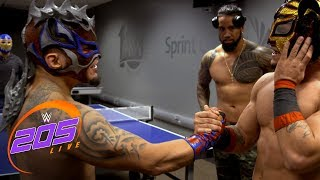 Kalisto & Lince Dorado celebrate The King of Flight's victory: WWE 205 Live Exclusive, Feb. 6, 2018