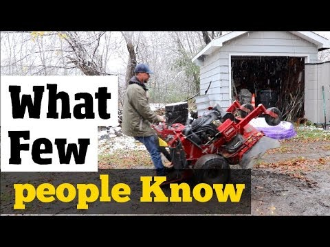 How To Winterize & Store Equipment- What Most People DONT KNOW