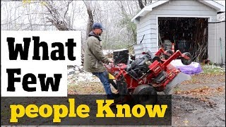 How to Winterize & Store Equipment- Stuff I didn