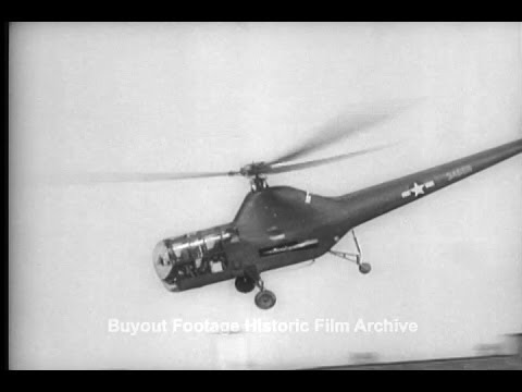 Historic Archival Stock Footage WWII - Army Reveals Record Breaking Helicopter