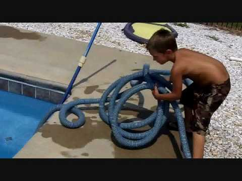 Watch How a 6 Year Old Can Clean an Inground Swimming Pool!!....Can You?