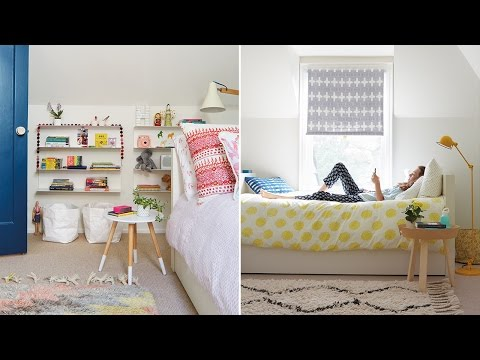 Interior Design — A Modern & Colorful Oasis For Two Girls
