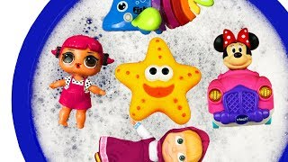 Characters and Animal Toys for Kids - Learn Colors with Educational Video - Baby Find Mom, Barbie