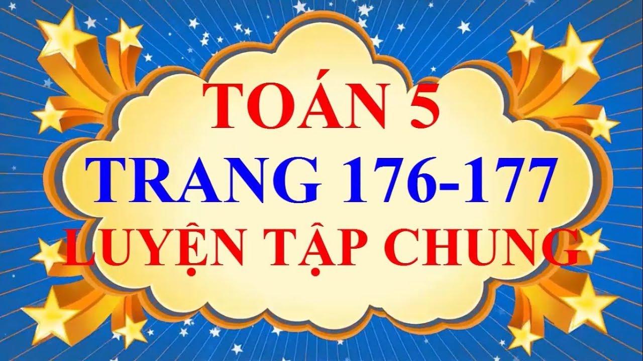 Toán Lớp 5 – Trang 176 – 177 – LUYỆN TẬP CHUNG