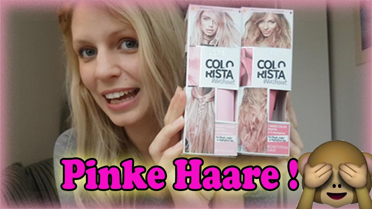 Pinke Haare Zuerst Blond Dann Pink Colorista Washout
