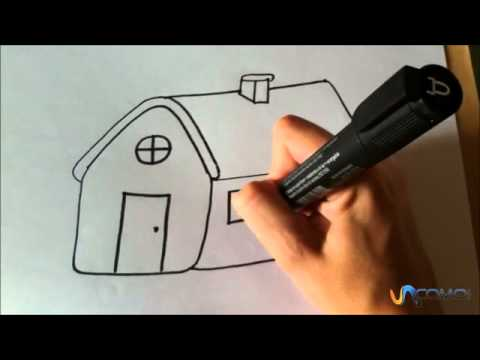 Cmo dibujar una casa animada  YouTube
