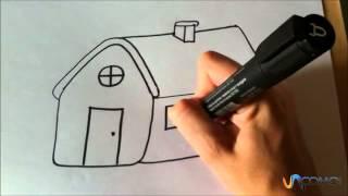 Cómo dibujar una casa animada