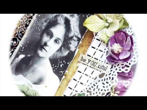 Vintage Beauty - mixed media canvas by Kasia Bogatko
