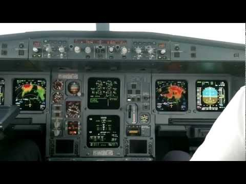 Landing Inside An A330 Cockpit In Miami - Listen To That Sound!!!!! [HD]