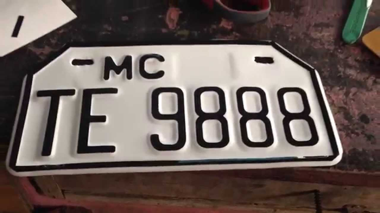 Motorcycle Plate Number Restoration (after) - YouTube