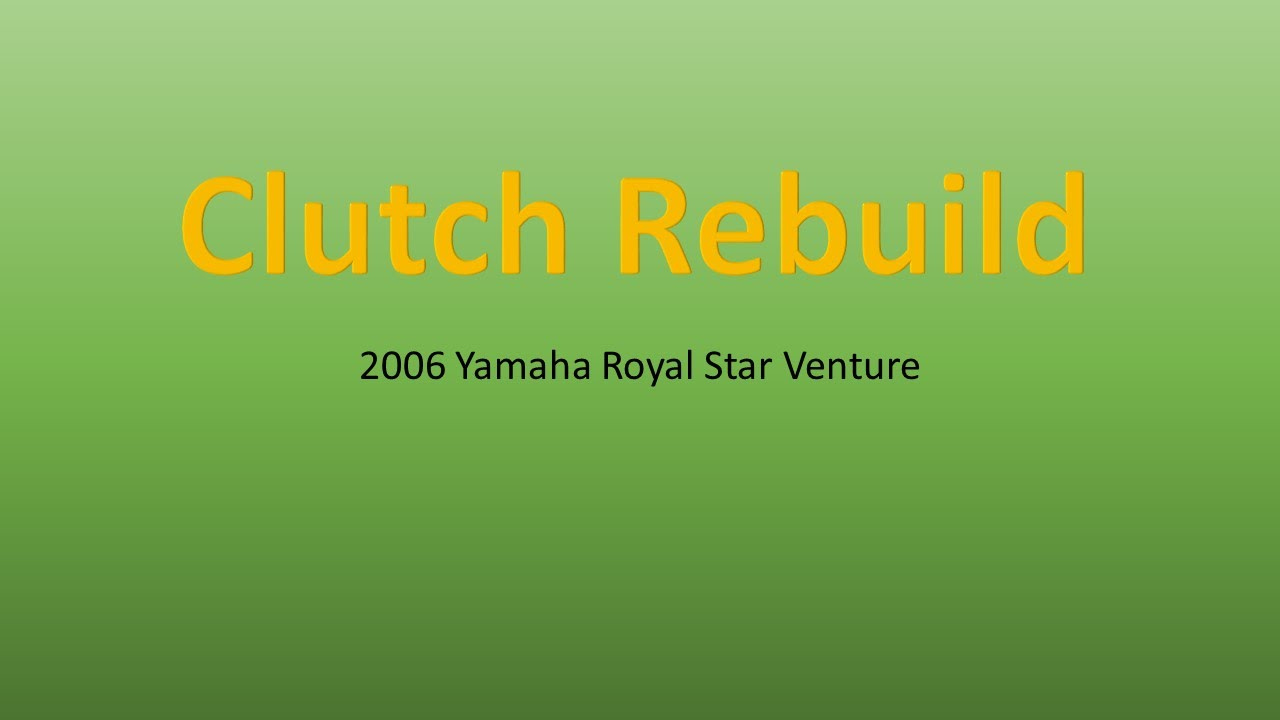 Remove Repair Clutch On A 2006 Yamaha Royal Star Venture Youtube V Wiring Diagram