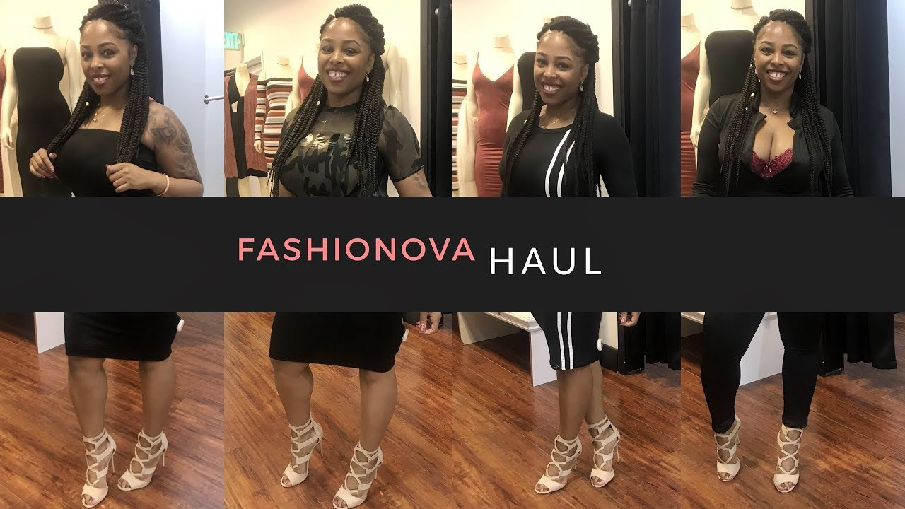 fashion nova shopping haul  try on clothes 2018  youtube
