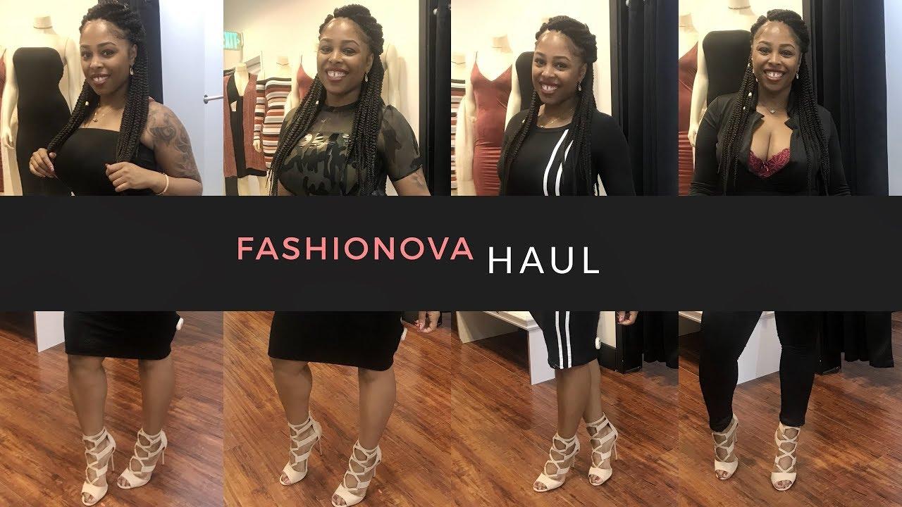 fashion nova shopping haul  try on clothes 2018  youtube