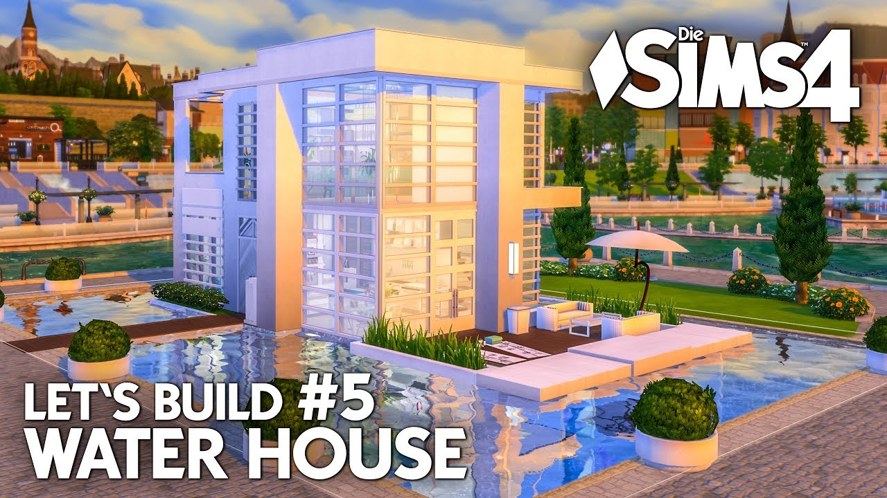 Modernes die sims 4 haus bauen water house 5 let 39 s for Modernes haus sims 4
