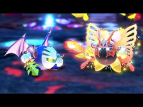Meta Knight VS Beta Knight In Kirby Star Allies, Secret Boss FINALE | Galacta Knight / Morpho Knight