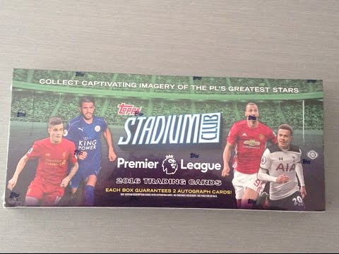 TOPPS STADIUM CLUB PREMIER LEAGUE 16/17 ***FULL BOX/2 AUTOS***
