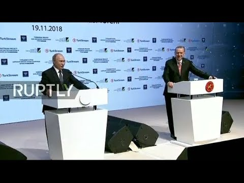 LIVE: Putin and Erdogan to open the TurkStream gas pipeline'
