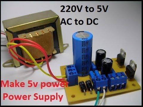 5v supply using voltage regulator ic 7805