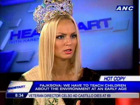 Czech Republic's Tereza Fajskovska is Ms. Earth 2012