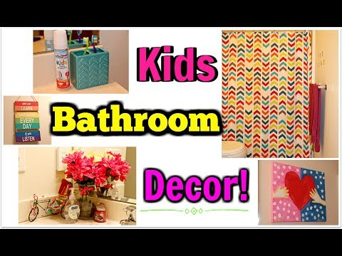 Kids Affordable Bathroom Decor - Dollar Tree, Walmart & Target!! | Kym Yvonne