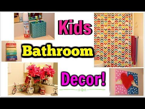 Kids Affordable Bathroom Decor - Dollar Tree, Walmart & Target!!   Kym Yvonne