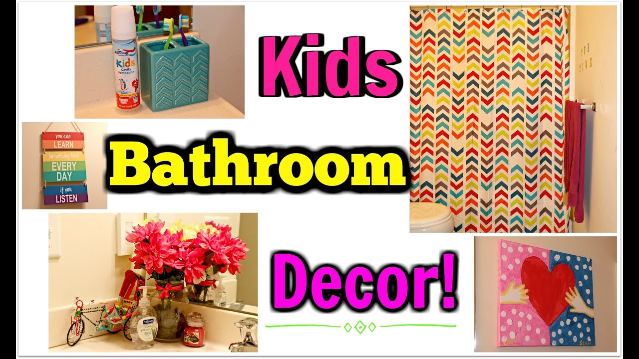 Kids affordable bathroom decor dollar tree walmart for Bathroom decor dollar tree