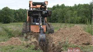 EDGE Mini Backhoe with Swing Dumps Material to the Side For Less Machine Moving Thumbnail