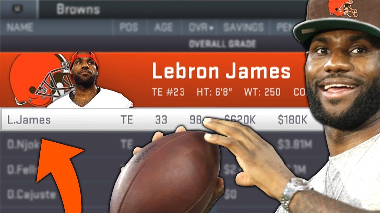 best service a044d 808b0 I PUT LEBRON JAMES ON THE CLEVELAND BROWNS AND THIS IS WHAT HAPPENED...